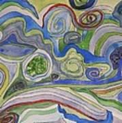Back Roads - Panel II Art Print