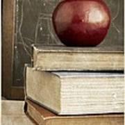 Back To School Apple For Teacher Art Print