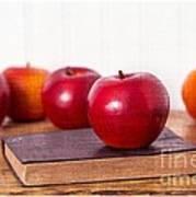Back To School Apples Art Print by Edward Fielding