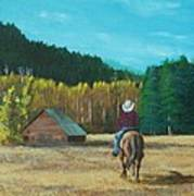 Back To The Barn Art Print
