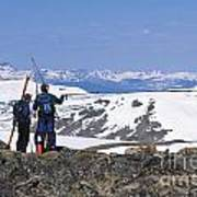 Backcountry Skiers Art Print