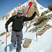 Backcountry Skiing, Citadel Peak, Co Art Print