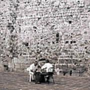 Backgammon At The Ancient Wall Art Print