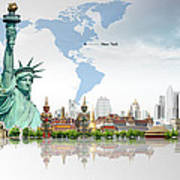 Background Travel Concept  Art Print