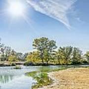 Backlighting River Landscape Art Print