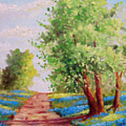 Backroad Bluebonnets Art Print