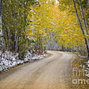 Backroads Of Autumn Art Print