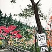 Backwoods Bridge Art Print