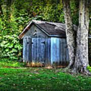 Backyard Barn Art Print