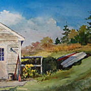Backyard Boats Art Print