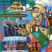 Backyard Chef Art Print by Anthony Falbo