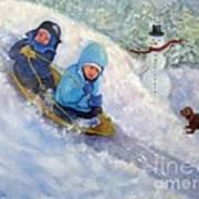 Backyard Winter Olympics Art Print