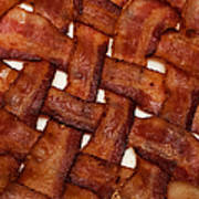 Bacon Weave Square Art Print