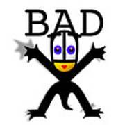 Bad Babe Art Print