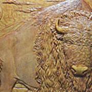 Badlands Bull Art Print
