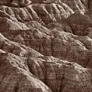 Badlands Light Bw Art Print