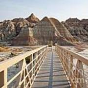 Badlands Walkway Art Print