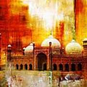 Badshahi Mosque Or The Royal Mosque Art Print
