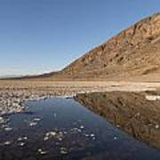 Badwater Basin In Death Valley National Park In Inyo County Art Print