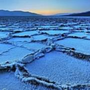 Badwater Dusk, Death Valley, California Art Print