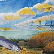 Fishing Baffin Bay Texas  Art Print