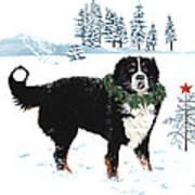 Bah Humbug Merry Christmas Large Art Print