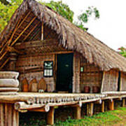 Bahnar Home With Extension As Family Grows At Museum Of Ethnology In Hanoi-vietnam  Art Print