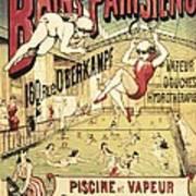 Bains Parisiens. Advertisment Marking Art Print