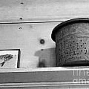 Bait Bucket And Fish Art Print