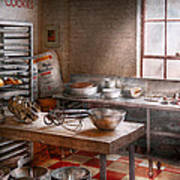 Baker - Kitchen - The Commercial Bakery  Art Print by Mike Savad