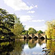 Bakewell Bridge - Over The River Wye Art Print