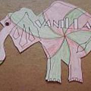 Baking Elephant Vanilla Art Print