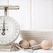 Baking Time Vintage Kitchen Scale Art Print