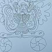 Balancing Clown - Doodle Art Print