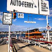 Balboa Island Auto Ferry In Newport Beach California Art Print