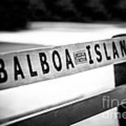 Balboa Island Bench In Newport Beach California Art Print