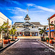 Balboa Main Street In Newport Beach Picture Art Print by Paul Velgos
