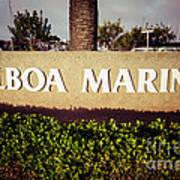 Balboa Marina Sign Newport Beach Picture Art Print by Paul Velgos