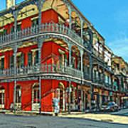 Balconies Painted Art Print