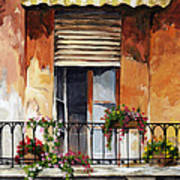 Balcony Of Ancona Art Print