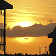 Key West Balcony Sunset Art Print