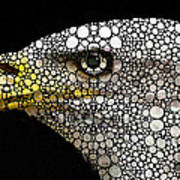 Bald Eagle Art - Eagle Eye - Stone Rock'd Art Art Print by Sharon Cummings