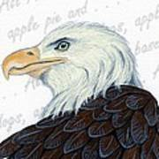 Bald Eagle -- Proud To Be An American Art Print by Sherry Goeben