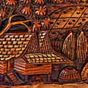 Bali Wood Carving Art Print