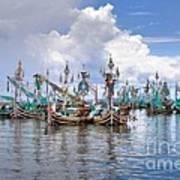 Balinese Fishing Boats Art Print