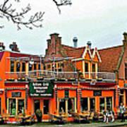 Balkan Restaurant In Enkhuizen-netherlands Art Print