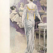 Ball Gown Art Print by French School