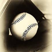 Ball In Glove Art Print by John Rizzuto