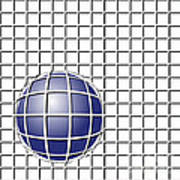 Ball In The Net Art Print