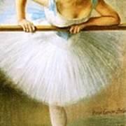 Ballerina At The Bar Art Print